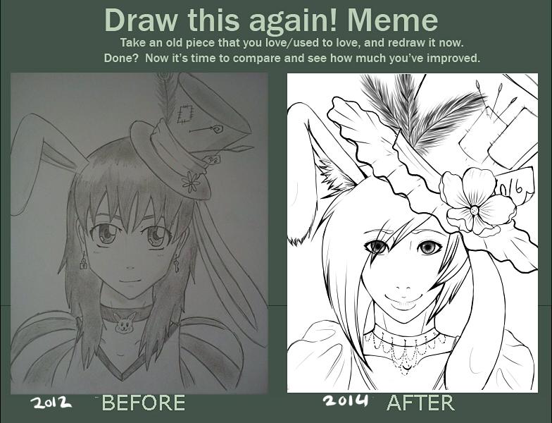 Draw this again meme: Hetalia Wonderland by midori-hikari