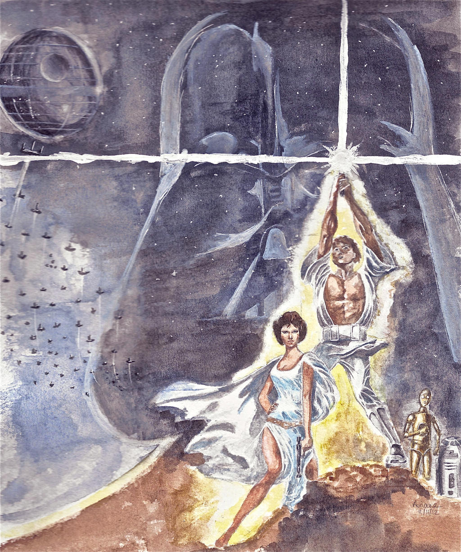 STAR WARS IV : A NEW HOPE by Auri3