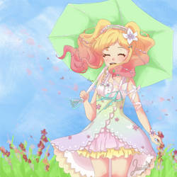 Yume Nijino in the meadow || Re-draw by Leirin-Ayume