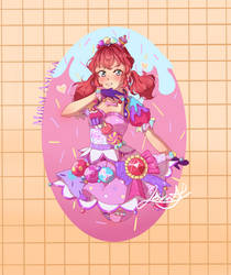 Mirai Asuka in Jeweling dress || Aikatsu Friends! by Leirin-Ayume