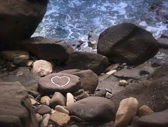 a stone heart by myrtos