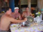 enjoying kakavia at Chissy isl
