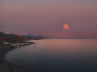 moon rise by myrtos