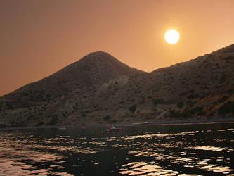 the  Myrtos sun by myrtos