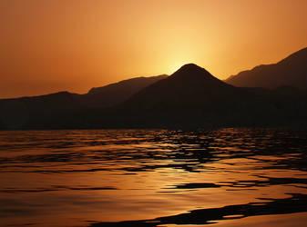 golden sea by myrtos