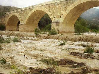 the bridge by myrtos