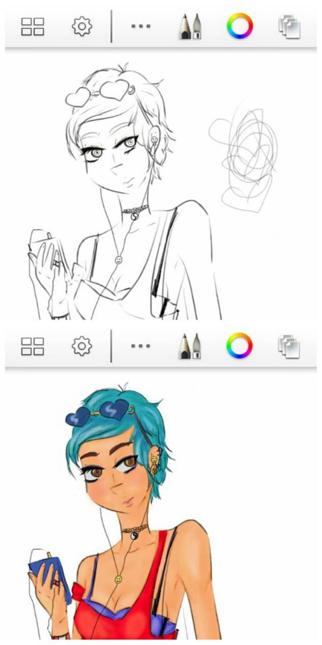 Girl-Work in progress 3