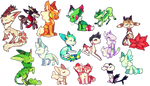 look at all of these chibis