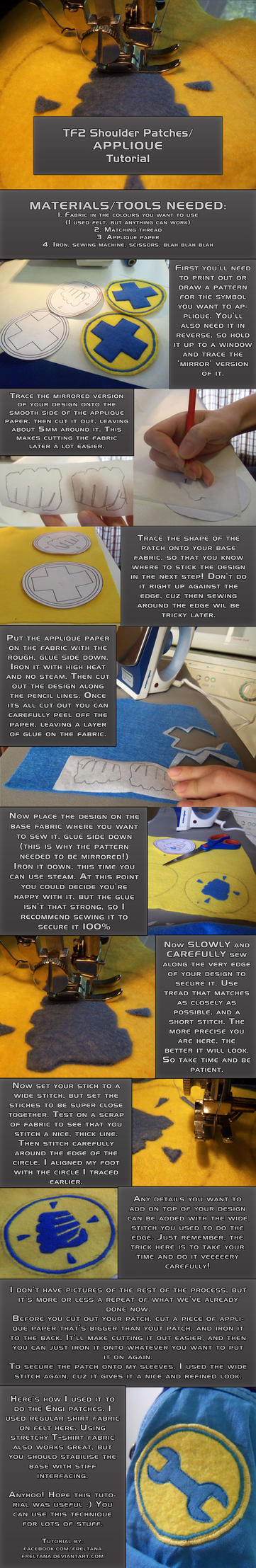 Tutorial: Applique / Team Fortress patches by freltana