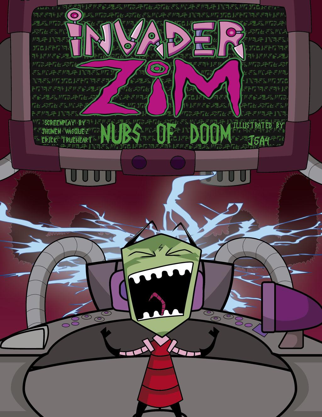 invasor zim  Nubs Of Doom cover