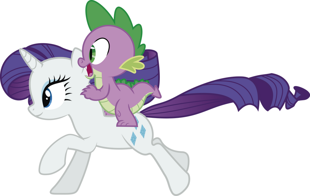 Spike And Rarity By J5A4 On DeviantArt