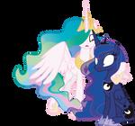 Luna  and Celestia - Are you alright