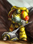 Imperial Fists space marine