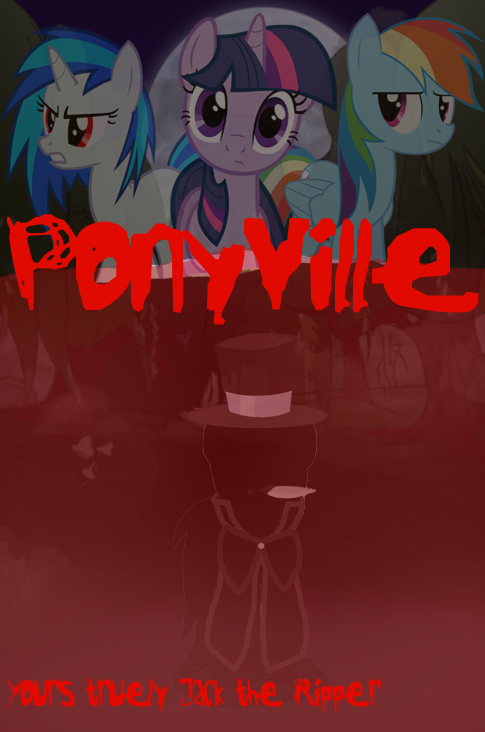 Ponyville Fanfic Cover 1 by Shadowpredator100