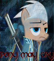 Dmc Vergil Pony Avatar by Shadowpredator100