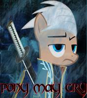 Dmc Vergil Pony Avatar by Shadowpredator100