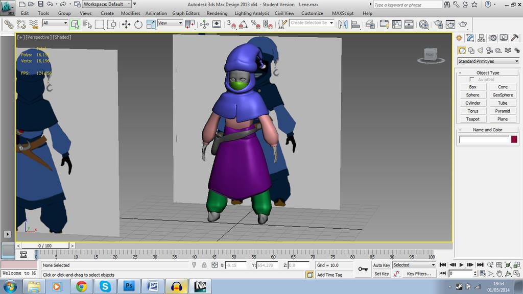 Young Lene Nezumi 3D Model WIP by Shadowpredator100