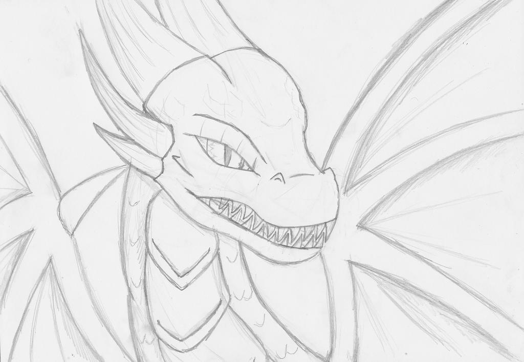 Random Dragon Sketch by Shadowpredator100