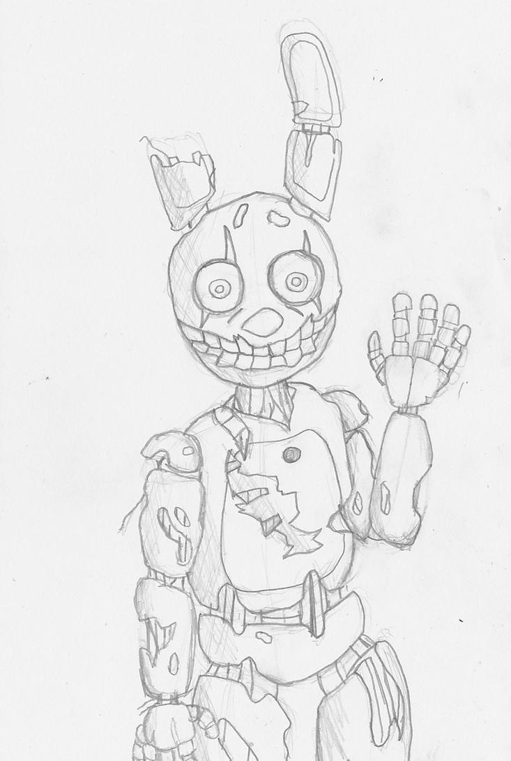 Springtrap Drawing by Shadowpredator100