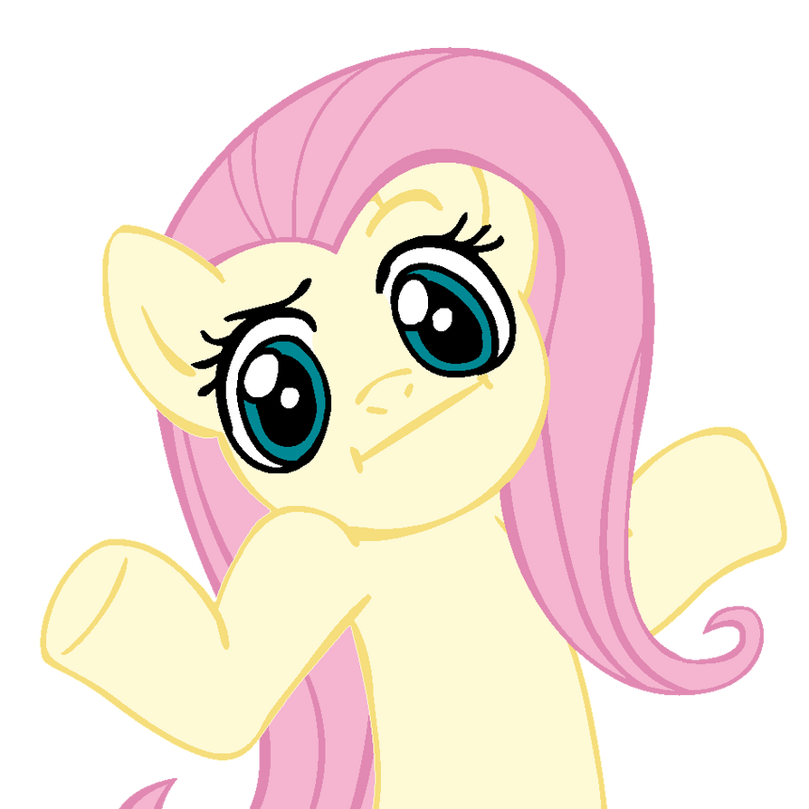 shrugpony_fluttershy_by_moongazeponies-d