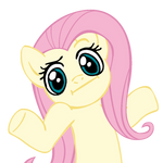 Shrugpony Fluttershy by MoongazePonies