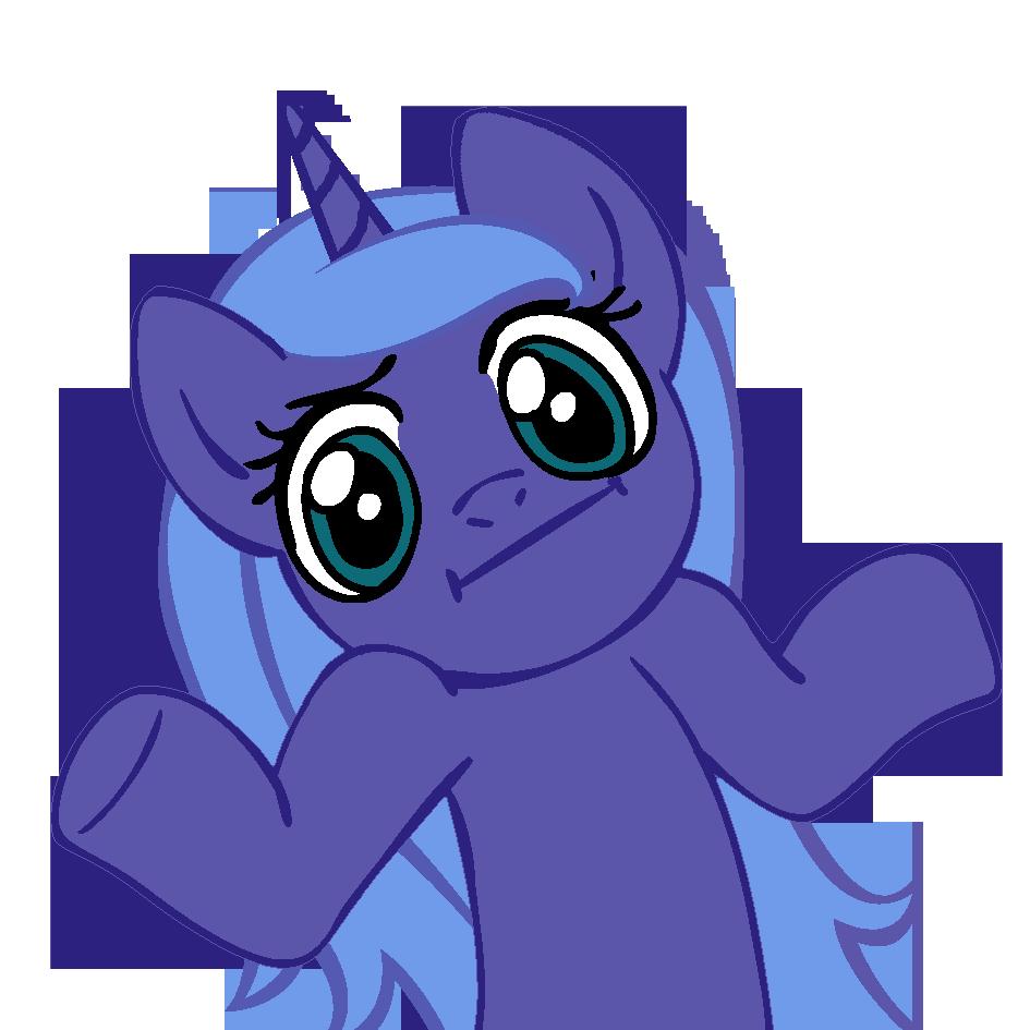 Shrugpony Luna by MoongazePonies
