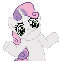 Shrugpony Sweetie Belle by MoongazePonies