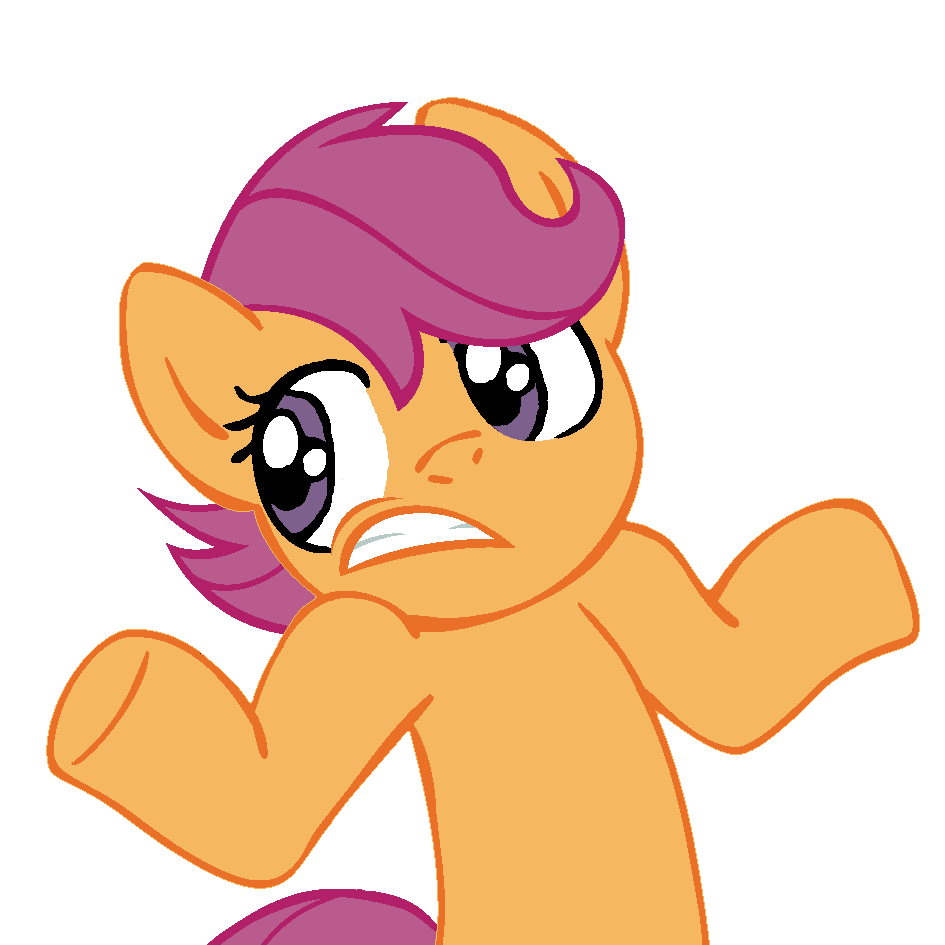 Shrugpony Scootaloo Face 2 By Moongazeponies On Deviantart Scootaloo, sighed fluttershy, i'm your birth mom. shrugpony scootaloo face 2 by
