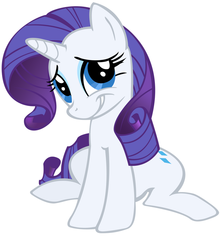 Giant freakin' Rarity colored by MoongazePonies