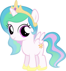 Celestia Filly by MoongazePonies