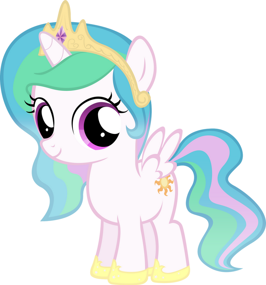 Celestia Filly By MoongazePonies On DeviantArt