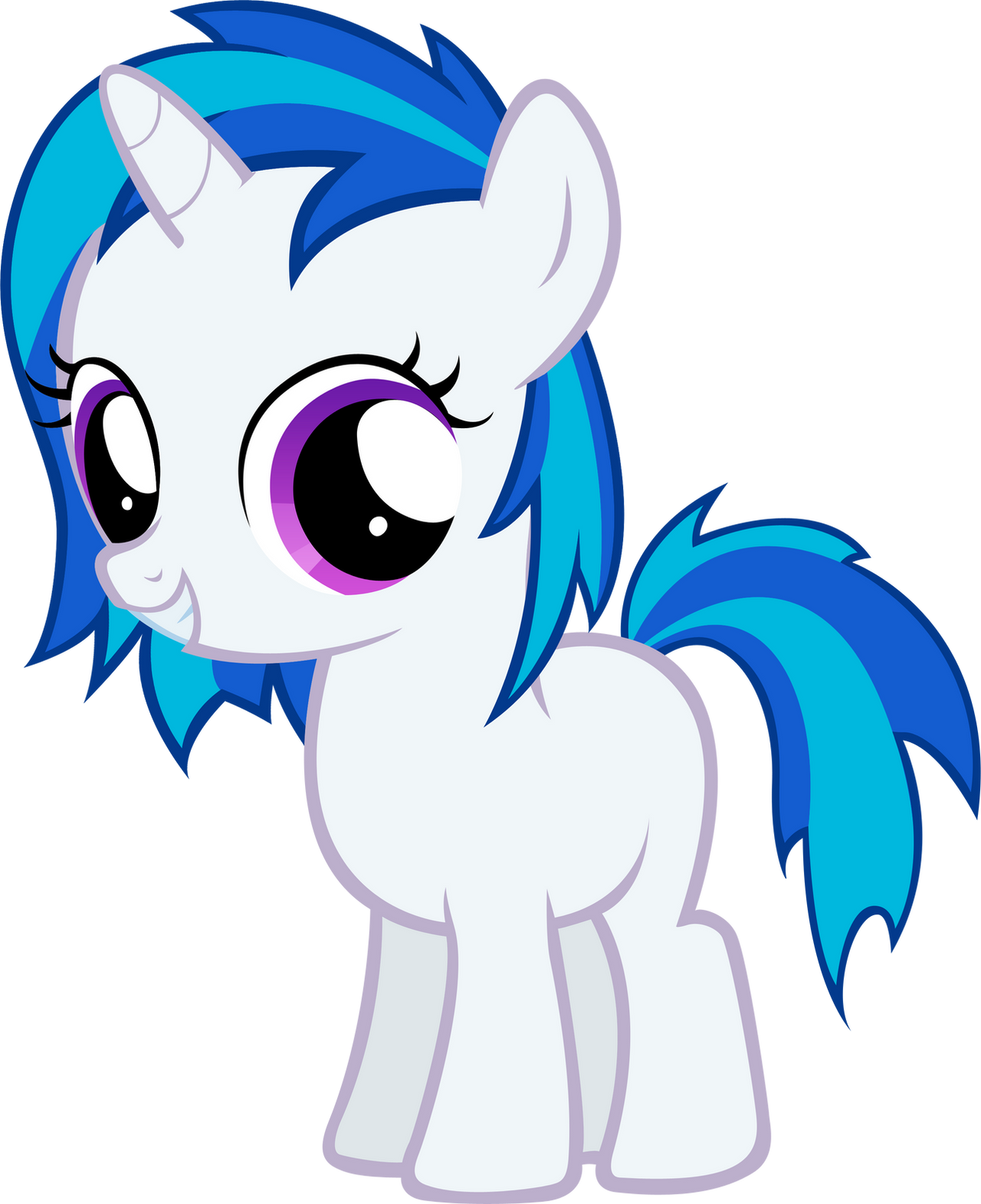 Vinyl Scratch Filly By Moongazeponies On Deviantart