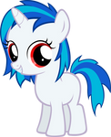 Vinyl Scratch Filly-Red Eyes