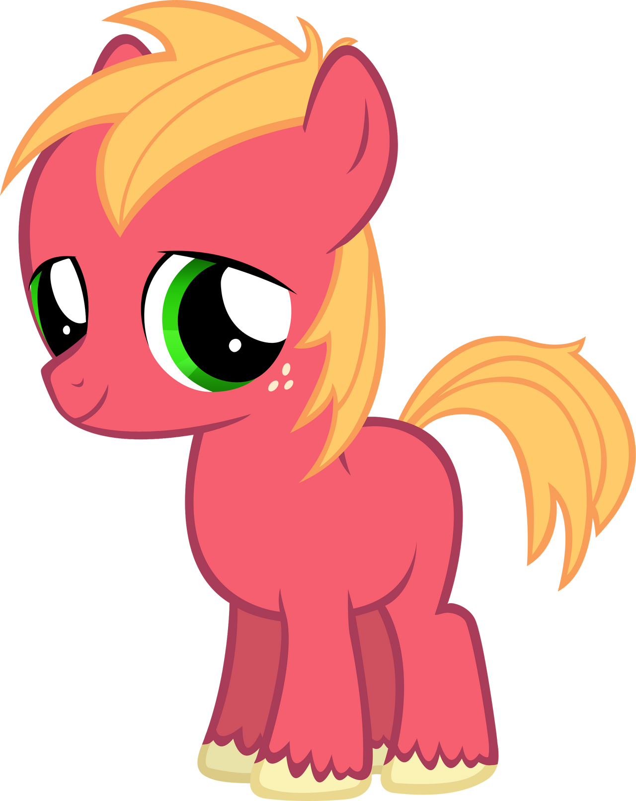 Little Macintosh Colt by MoongazePonies