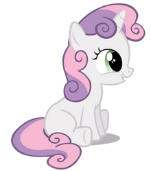 Sweetie Belle being adorable by MoongazePonies