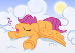 Snoozing Scootaloo