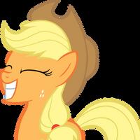 Applejack Grin by MoongazePonies