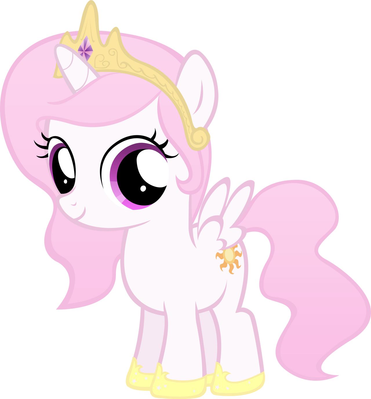 Celestia Filly Except Pink By MoongazePonies On DeviantArt
