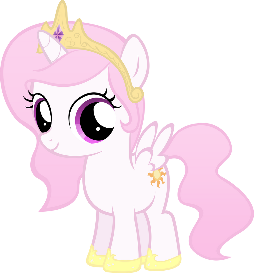 Celestia Filly, Except Pink by MoongazePonies on DeviantArt