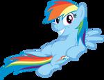 Rainbow Dash is chill