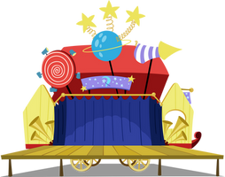 Trixie's Wagon Stage by MoongazePonies