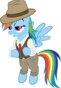 Rainbow Dash Always Dresses In Style by MoongazePonies