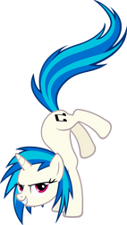 Vinyl Scratch/DJ Pon-3 hoofstand - no glasses by MoongazePonies
