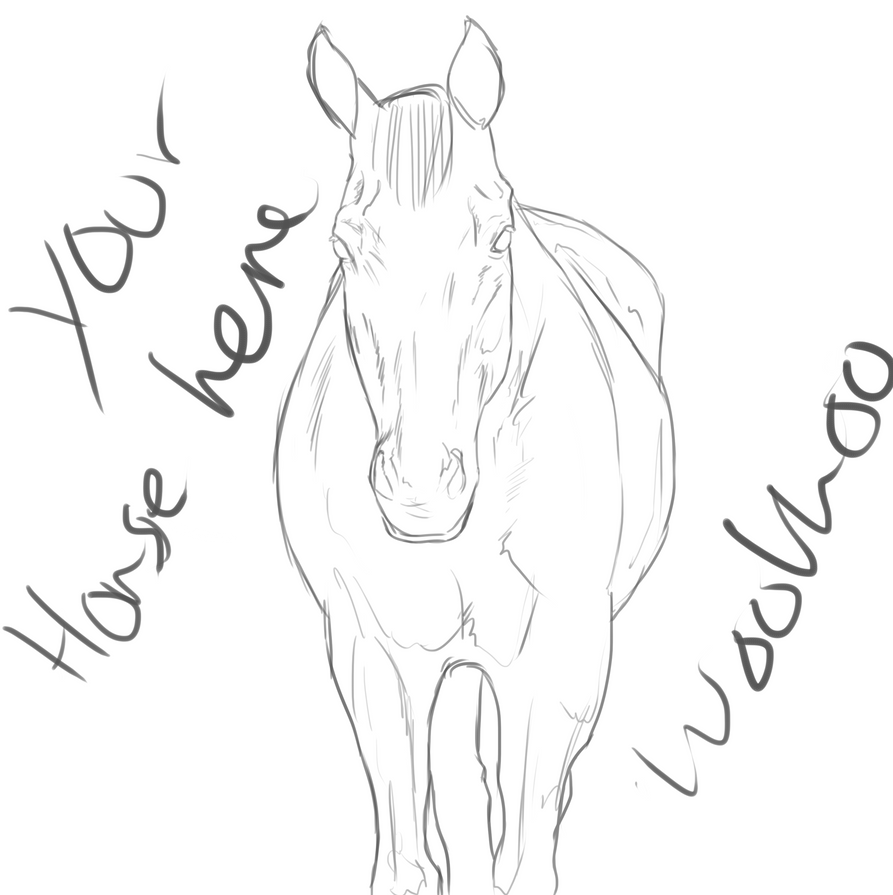 horse face coloring pages - photo#6
