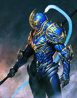 The Blue Knight by nibelwolf
