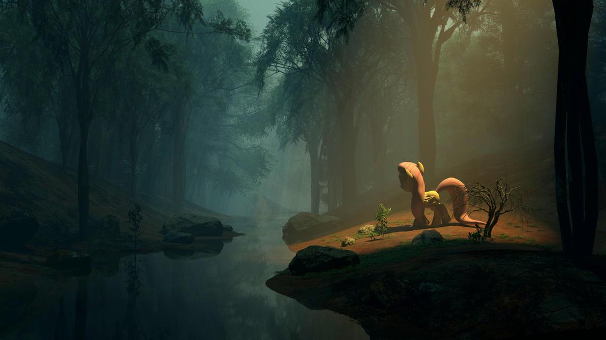 Fluttershy's Jungle by Saxm13