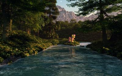Rivershy by Saxm13