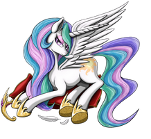 Princess Celestia 4 noBG by Nalesia