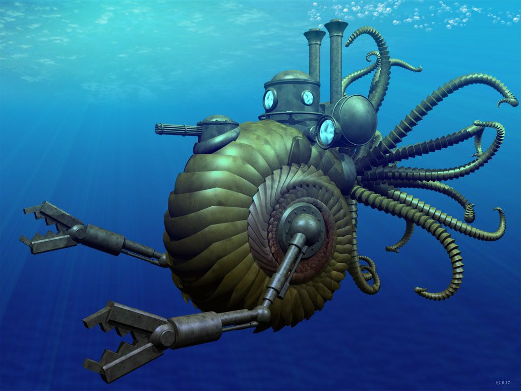 Steampunk nautilus by e47art on deviantart for Nautilus garden designs