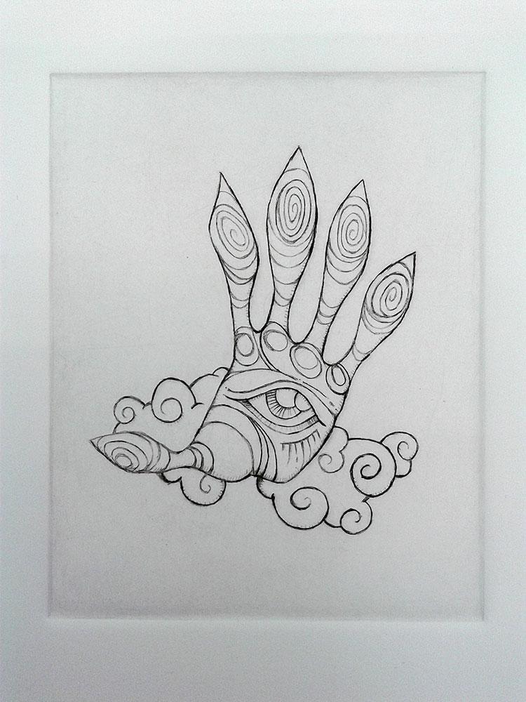 Evil Eye etching by e47art